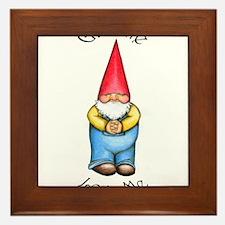 Cute Funny gnomes Framed Tile
