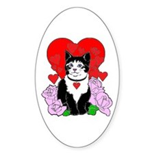 Cheesy Cat Valentine Decal