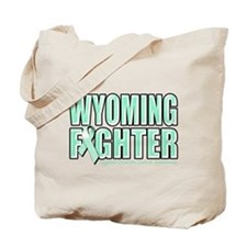 Wyoming Ovarian Cancer Fighter Tote Bag