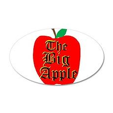 THE BIG APPLE 22x14 Oval Wall Peel