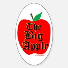 THE BIG APPLE Sticker (Oval)