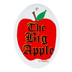 THE BIG APPLE Ornament (Oval)