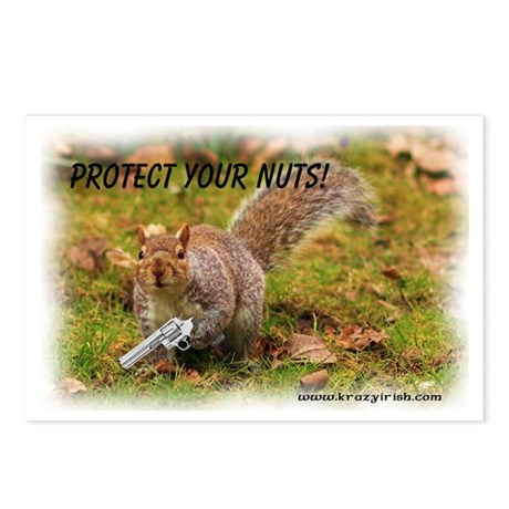 Krazy Irish Protect Your Nuts Postcards (Package o