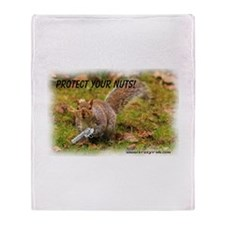 Krazy Irish Protect Your Nuts Throw Blanket