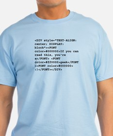 You're a geek :) HTML code T-Shirt