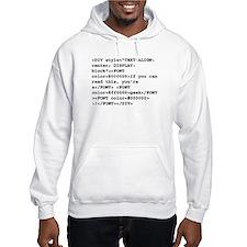 You're a geek :) HTML code Hoodie