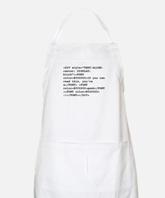 You're a geek :) HTML code Apron