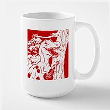 Dino with Guitar Large Mug
