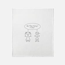 Cute Kids allergy Throw Blanket