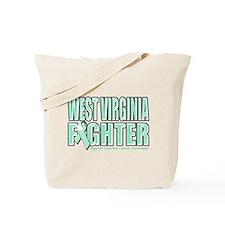 West Virginia Ovarian Cancer Fighter Tote Bag