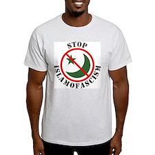 Stop Islamofascism Ash Grey T-Shirt