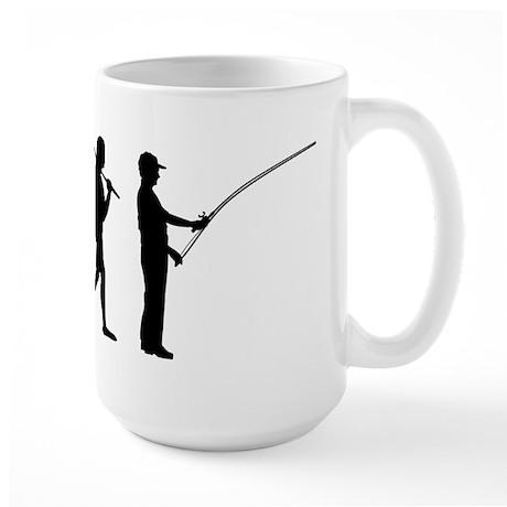 The Evolution Of The Fisherman Large Mug