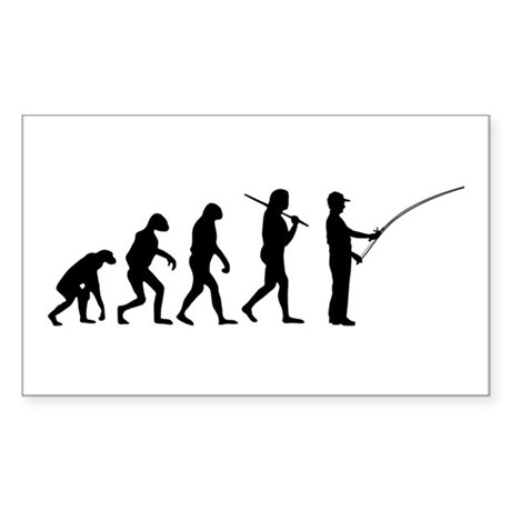 The Evolution Of The Fisherman Sticker (Rectangle