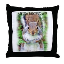 Are You Talkin To Me Throw Pillow