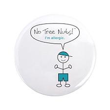 "Tree Nut Allergy - Boys - 3.5"" Button"