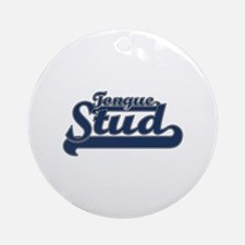 Tongue Stud Ornament (Round)