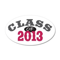 Class Of 2013 Red 22x14 Oval Wall Peel