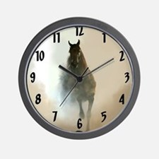 Misty Horse Wall Clock