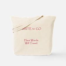 Write to Go Tote Bag