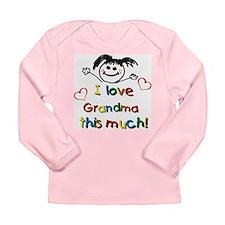 I Love Grandma (girl) Long Sleeve Infant T-Shirt
