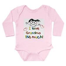 I Love Grandma (girl) Long Sleeve Infant Bodysuit