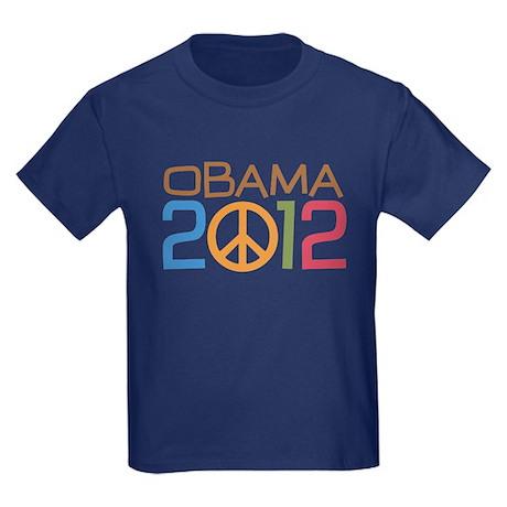 Obama 2012 Peace Kids Dark T-Shirt