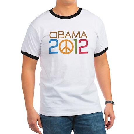 Obama 2012 Peace Ringer T