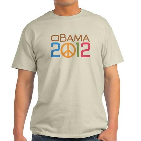 Obama 2012 Peace Light T-Shirt