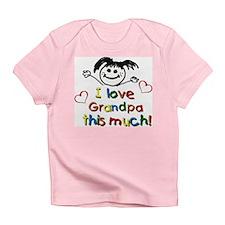 I Love Grandpa (girl) Infant T-Shirt