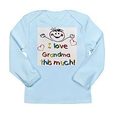 I Love Grandma (boy) Long Sleeve Infant T-Shirt