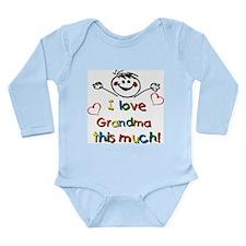 I Love Grandma (boy) Long Sleeve Infant Bodysuit
