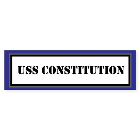 USS Constitution Sticker (Bumper)