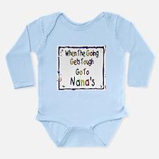 Go To Nana's Long Sleeve Infant Bodysuit