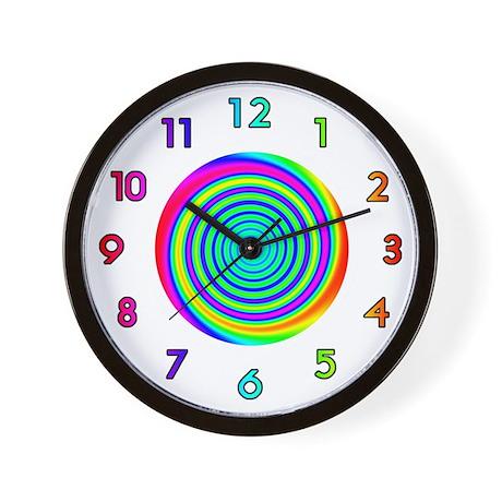 <b>RAINBOW SERIES:</b> Spinning Rainbows W. Clock