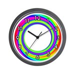 RAINBOW SERIES:  Rainbow Circle Wall Clock