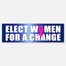 ELECT WOMEN Bumper Bumper Bumper Sticker