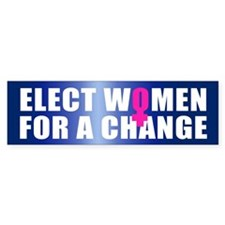 ELECT WOMEN Bumper Bumper Sticker