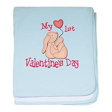 Baby's 1st Valentine's Day baby blanket