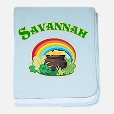 Savannah Georgia Irish baby blanket