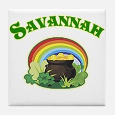 Savannah Georgia Irish Tile Coaster