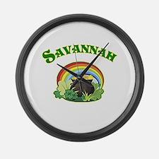 Savannah Georgia Irish Large Wall Clock
