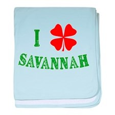 I Heart Savannah baby blanket