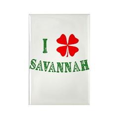 I Heart Savannah Rectangle Magnet (10 pack)