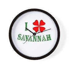I Heart Savannah Wall Clock