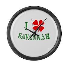 I Heart Savannah Large Wall Clock
