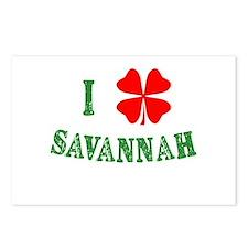 I Heart Savannah Postcards (Package of 8)