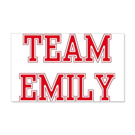 TEAM EMILY 22x14 Wall Peel