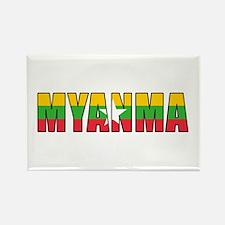 Burma Rectangle Magnet