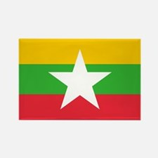 Burma Flag Rectangle Magnet