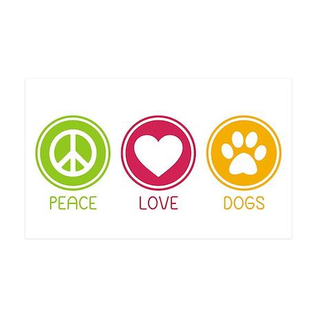 Peace - Love - Dogs 1 38.5 x 24.5 Wall Peel